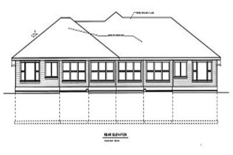 Home Plan Rear Elevation of this 3-Bedroom,1768 Sq Ft Plan -119-1125