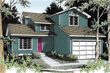 4-Bedroom, 1759 Sq Ft Multi-Level House Plan - 119-1126 - Front Exterior