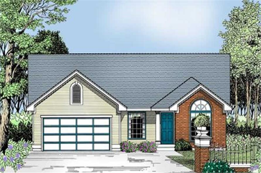 Front Elevation of this 4-Bedroom,1717 Sq Ft Plan -1717