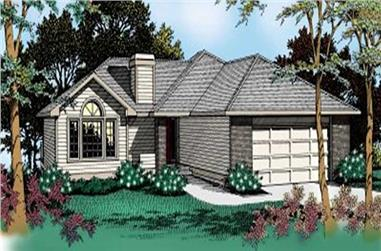 3-Bedroom, 1689 Sq Ft Contemporary House Plan - 119-1128 - Front Exterior