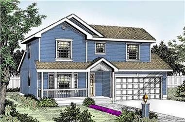 3-Bedroom, 1401 Sq Ft Country House Plan - 119-1131 - Front Exterior