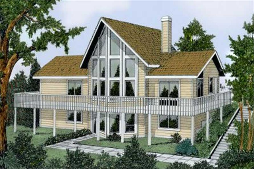 2-Bedroom, 1888 Sq Ft Coastal House Plan - 119-1132 - Front Exterior