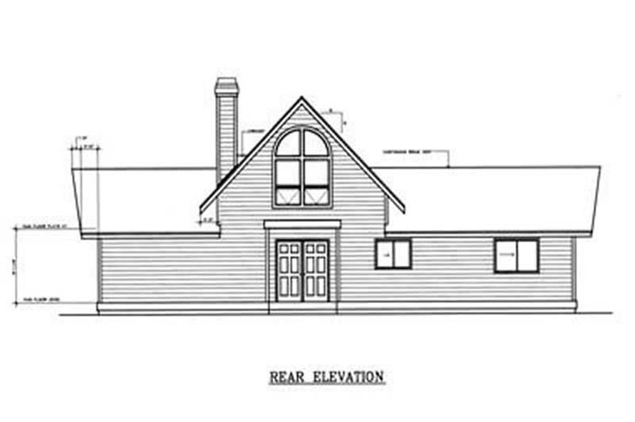 Home Plan Rear Elevation of this 2-Bedroom,1888 Sq Ft Plan -119-1132