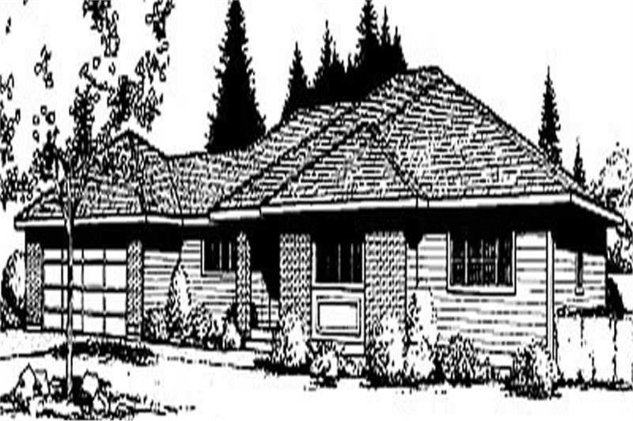 3-Bedroom, 1526 Sq Ft Ranch House Plan - 119-1134 - Front Exterior