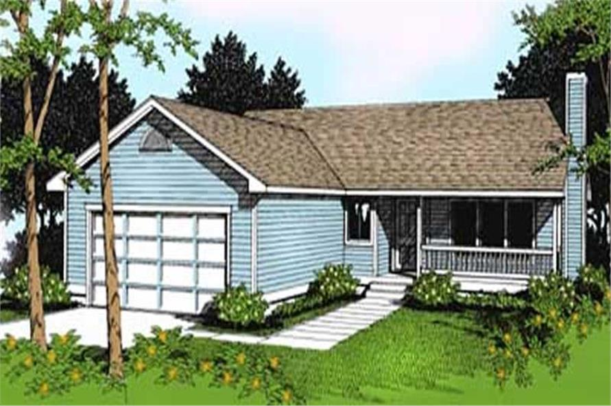 3-Bedroom, 1506 Sq Ft Ranch House Plan - 119-1136 - Front Exterior