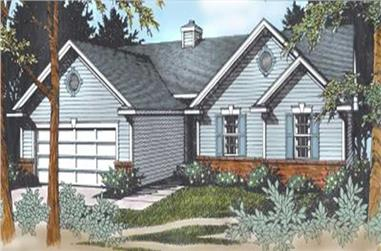 3-Bedroom, 1479 Sq Ft Ranch House Plan - 119-1137 - Front Exterior