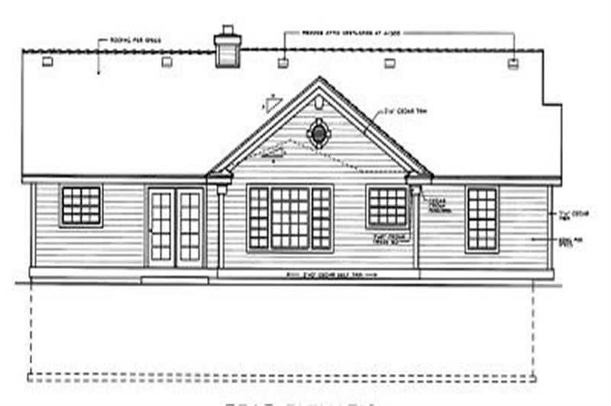 Home Plan Rear Elevation of this 3-Bedroom,1479 Sq Ft Plan -119-1137