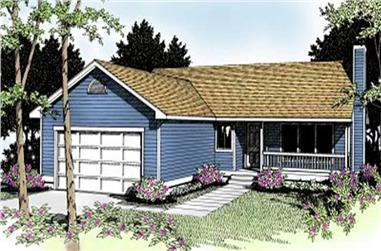 3-Bedroom, 1410 Sq Ft Ranch House Plan - 119-1138 - Front Exterior