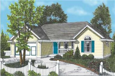 2-Bedroom, 1288 Sq Ft Ranch House Plan - 119-1139 - Front Exterior