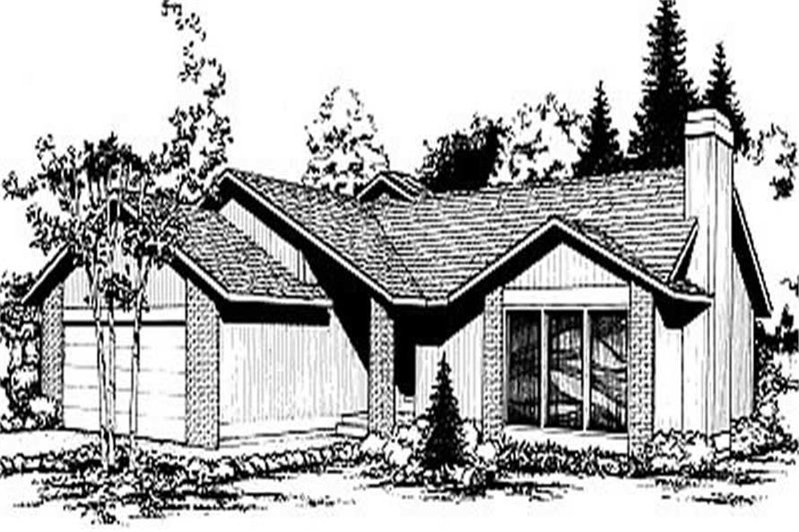 3-Bedroom, 1657 Sq Ft Contemporary House Plan - 119-1140 - Front Exterior