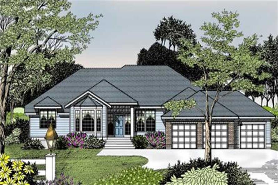 Home Plan Rendering of this 3-Bedroom,2327 Sq Ft Plan -119-1141