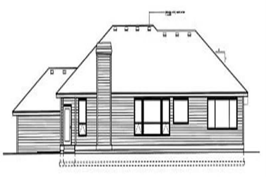 Home Plan Rear Elevation of this 3-Bedroom,2327 Sq Ft Plan -119-1141