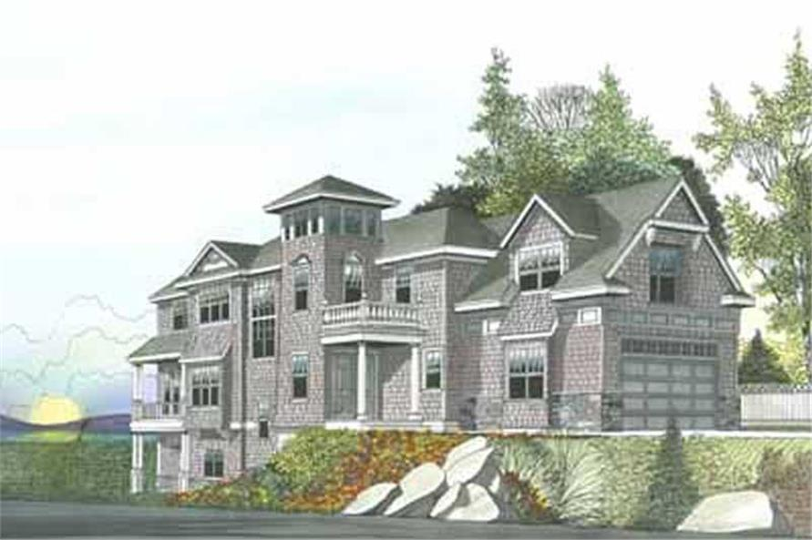 4-Bedroom, 4702 Sq Ft Craftsman Home Plan - 119-1142 - Main Exterior