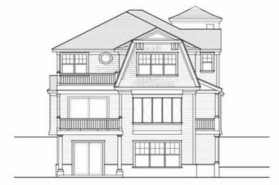 Home Plan Rear Elevation of this 4-Bedroom,4702 Sq Ft Plan -119-1142