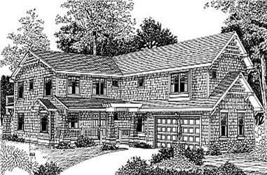 4-Bedroom, 3664 Sq Ft Country House Plan - 119-1143 - Front Exterior