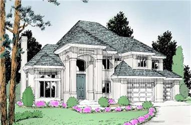 4-Bedroom, 3738 Sq Ft Luxury House Plan - 119-1144 - Front Exterior