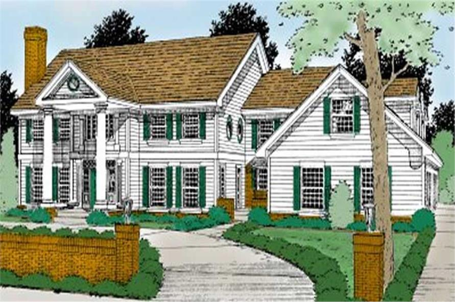 Front Elevation of this 5-Bedroom,4260 Sq Ft Plan -4260