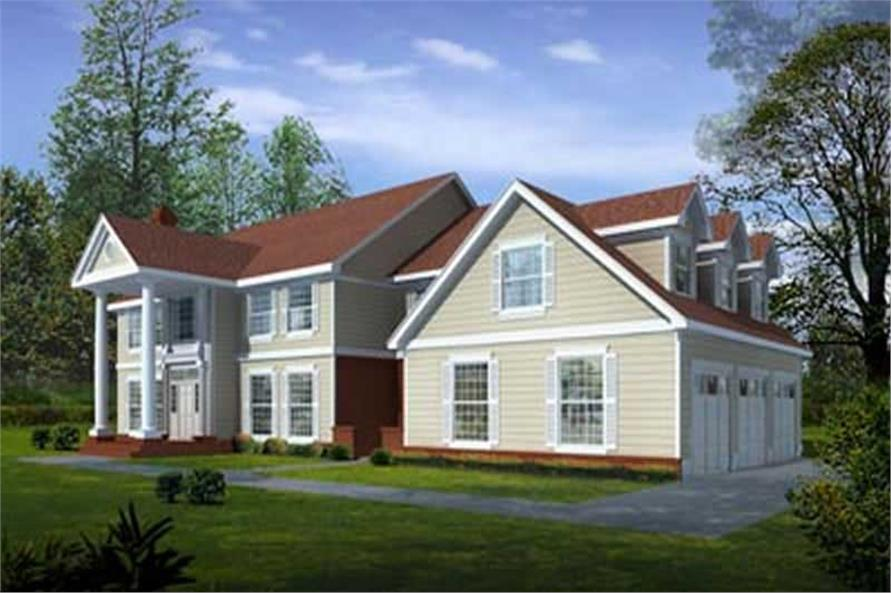 5-Bedroom, 4260 Sq Ft Colonial House Plan - 119-1146 - Front Exterior