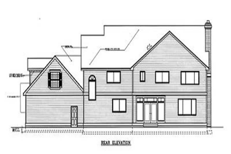 Home Plan Rear Elevation of this 5-Bedroom,4260 Sq Ft Plan -119-1146