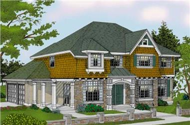 4-Bedroom, 3369 Sq Ft Colonial House Plan - 119-1148 - Front Exterior