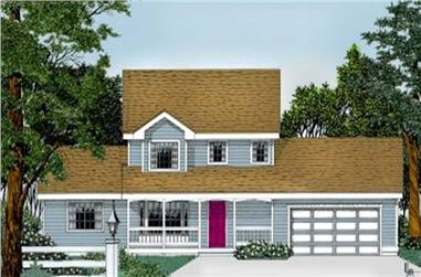 4-Bedroom, 1795 Sq Ft Country House Plan - 119-1149 - Front Exterior