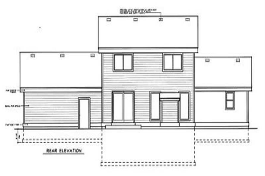 Home Plan Rear Elevation of this 4-Bedroom,1795 Sq Ft Plan -119-1149