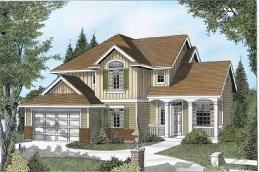 3-Bedroom, 2329 Sq Ft Country House Plan - 119-1150 - Front Exterior