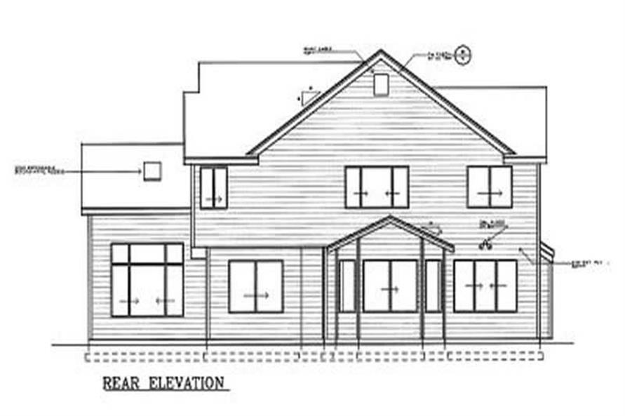 Home Plan Rear Elevation of this 3-Bedroom,2329 Sq Ft Plan -119-1150