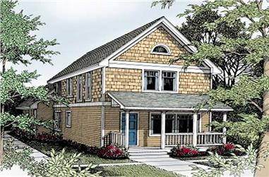 3-Bedroom, 1584 Sq Ft Country House Plan - 119-1151 - Front Exterior