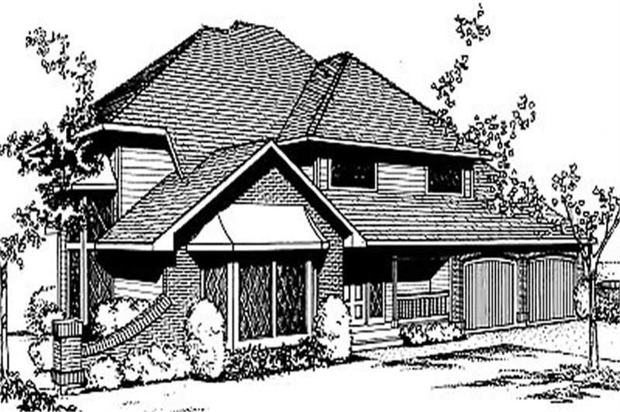 3-Bedroom, 2229 Sq Ft Contemporary House Plan - 119-1152 - Front Exterior