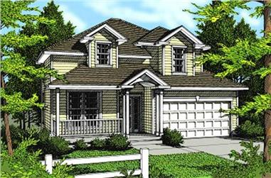 4-Bedroom, 2216 Sq Ft Country House Plan - 119-1153 - Front Exterior