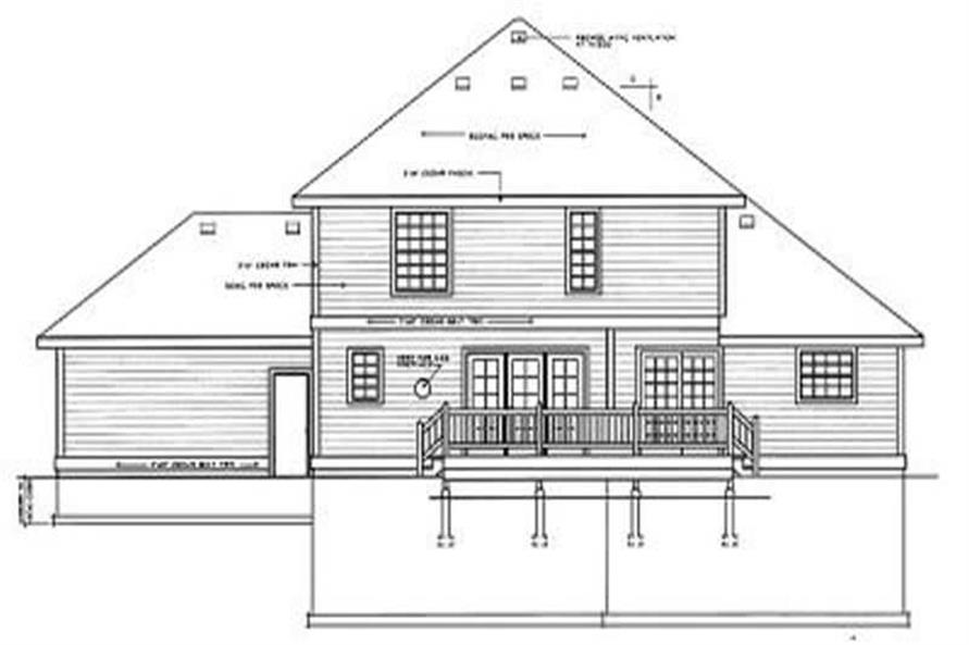Home Plan Rear Elevation of this 3-Bedroom,2195 Sq Ft Plan -119-1154