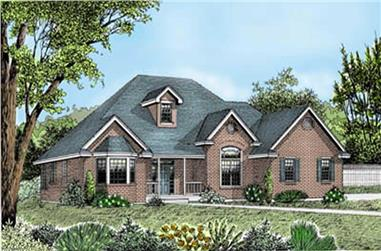 3-Bedroom, 2148 Sq Ft European House Plan - 119-1155 - Front Exterior