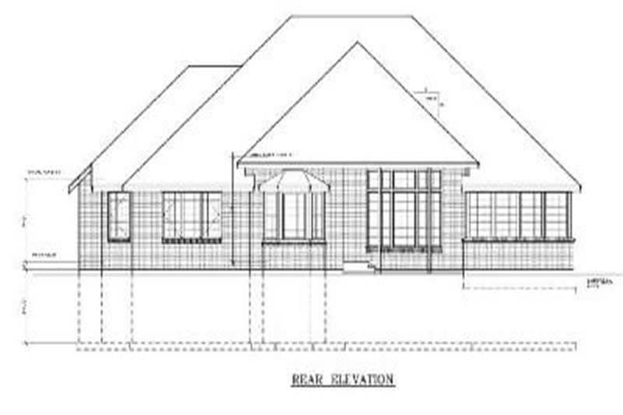 Home Plan Rear Elevation of this 3-Bedroom,2148 Sq Ft Plan -119-1155