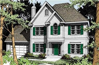 3-Bedroom, 2106 Sq Ft French House Plan - 119-1156 - Front Exterior