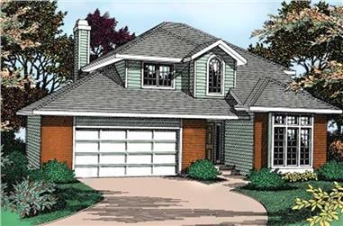 3-Bedroom, 1996 Sq Ft Contemporary House Plan - 119-1157 - Front Exterior