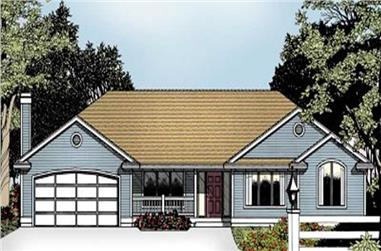 3-Bedroom, 2163 Sq Ft Ranch House Plan - 119-1160 - Front Exterior