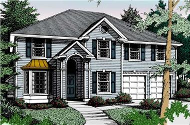 4-Bedroom, 3018 Sq Ft Contemporary House Plan - 119-1161 - Front Exterior