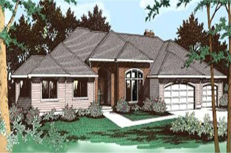 4-Bedroom, 3003 Sq Ft Prairie House Plan - 119-1162 - Front Exterior