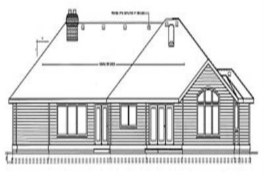 Home Plan Rear Elevation of this 4-Bedroom,3003 Sq Ft Plan -119-1162