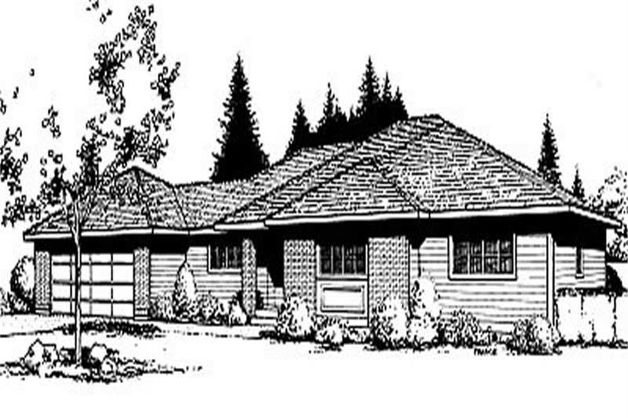 House Plan Small Home Design: Home Design DDI85-110 # 1970
