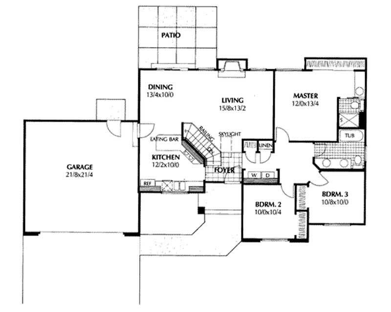 Small ranch house plans home design ddi85 110 1970 for 1970s house floor plans