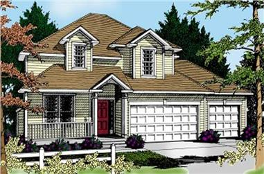 4-Bedroom, 2527 Sq Ft Country House Plan - 119-1165 - Front Exterior
