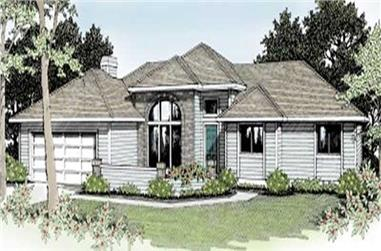 3-Bedroom, 1604 Sq Ft Ranch House Plan - 119-1166 - Front Exterior