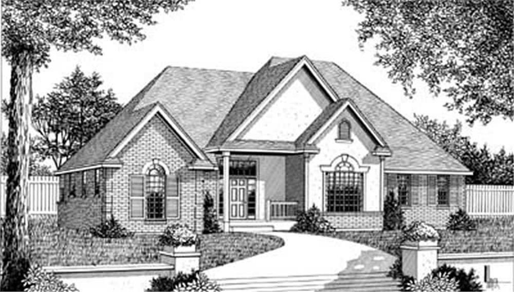 Front elevation of Country home (ThePlanCollection: House Plan #119-1167)