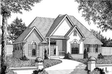 3-Bedroom, 2374 Sq Ft Country House Plan - 119-1167 - Front Exterior