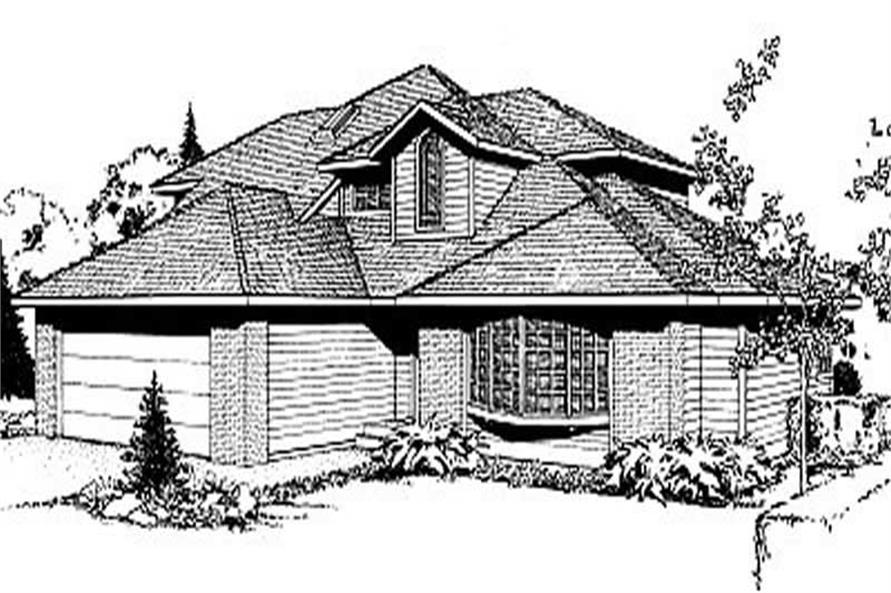 3-Bedroom, 2310 Sq Ft Contemporary House Plan - 119-1169 - Front Exterior