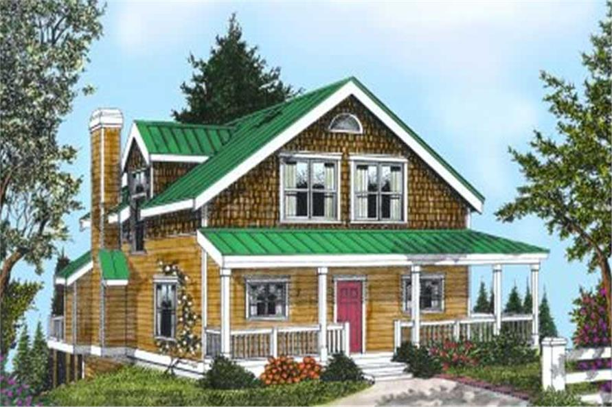 Home Plan Rendering of this 5-Bedroom,2202 Sq Ft Plan -119-1171