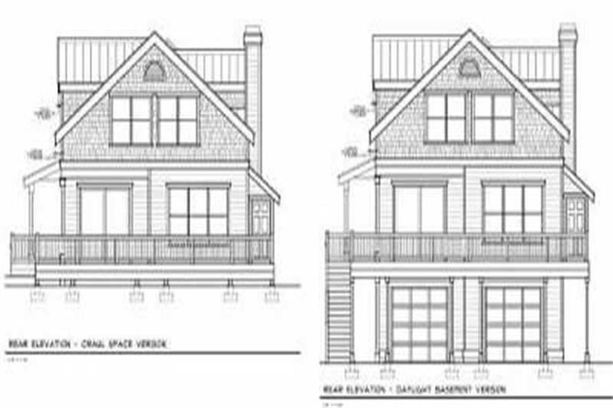 Home Plan Rear Elevation of this 5-Bedroom,2202 Sq Ft Plan -119-1171