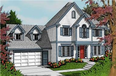 3-Bedroom, 2187 Sq Ft French House Plan - 119-1172 - Front Exterior